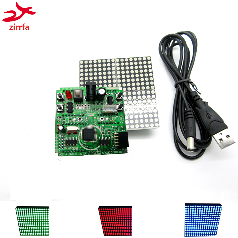 16x16 Led Dot Matrix Display Module Unlimited Cascading Red/green/blue Finished With Mcu