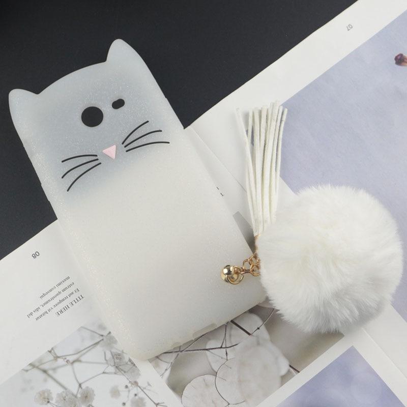 Cute 3D Cartoon Silicon Case for Samsung Galaxy J3 Prime Cases Japan Glitter Beard Cat Lovely Ears Kitty Phone Cover