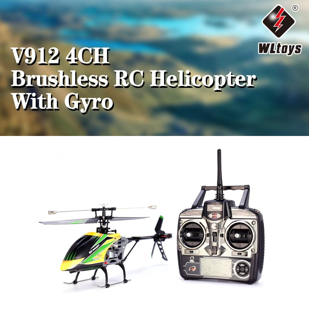 WLtoys V912 السماء راقصة الطائرات 4CH فرش RC هليكوبتر مع الدوران شفرة واحدة مع رئيس ضوء المصباح أجهزة الاستقبال عن بعد-في طائرات هليوكوبترتعمل بالتحكم عن بعد من الألعاب والهوايات على  مجموعة 1