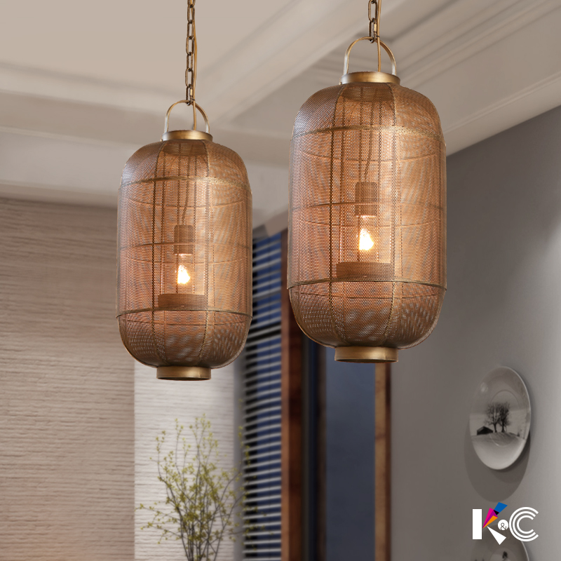 American country iron cage pendant lamp coffee shop industrial retro bar dining room living room chain pendant light ZA81017 american industrial country personality creative iron wood antique restaurant pendant light coffee shop bar light free shipping