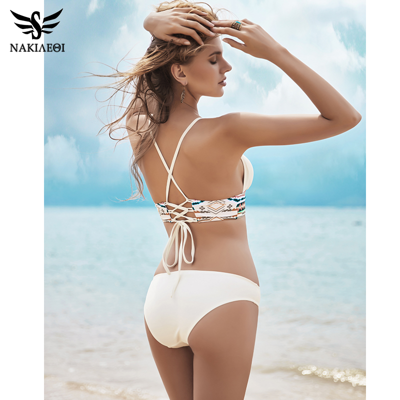 NAKIAEOI 2018 Sexy Bikini Set Swimwear Women Push Up Swimsuit Bandage Bikini Brazilian Summer Beach Bathing Suits female Biquini 3