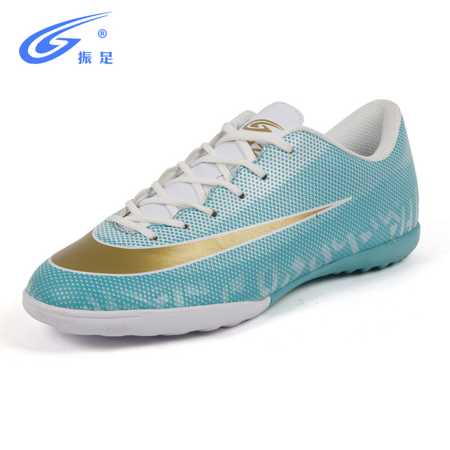 03431c480e Zhenzu centopéia Adulto Homens Turf Indoor futsal sapatos de futebol para  meninos botas de Futebol Chuteiras