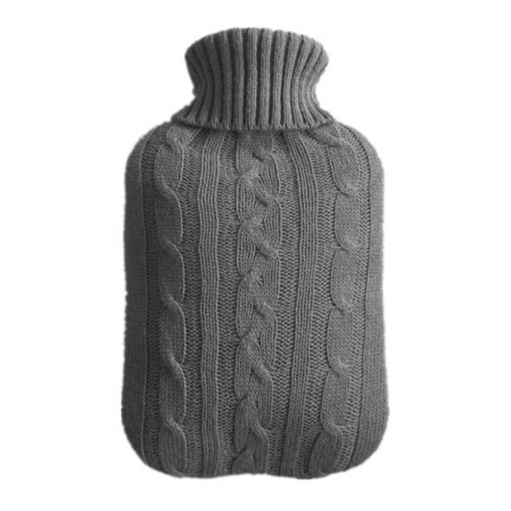 2000ml Protective Heat Preservation Warm Cold-proof Safe Washable Knitted Cover Hot Water Bottle Explosion-proof Winter Large
