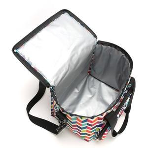 Image 5 - SANNE fiambrera térmica a la moda para mujer, bolsos para la comida para Picnic, nevera portátil, multifunción, YQ835, 2019