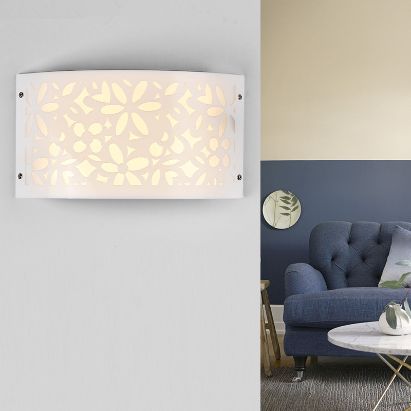 Modern led wall lights for bedroom study room Stainless steel+Acrylic 9W <font><b>home</b></font> <font><b>decoration</b></font> Hollow Out wall lamp free shipping