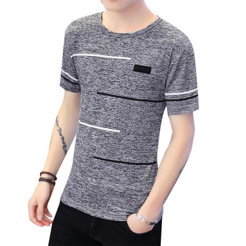 YRRFUOT 半袖 Tシャツメンズ O ネックポリエステル男性の Tシャツ夏クール Tシャツ男性スリムカジュアル Tシャツシャツオムプラスサイズ 4XL
