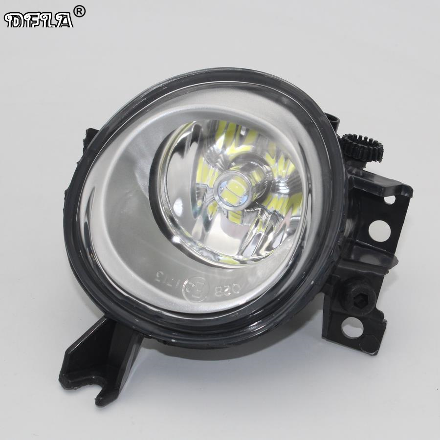 Left Side Car LED Light For VW Touareg 2003 2004 2005 2006 2007 2008 2009 2010 Car-styling Front LED Car Fog Light Fog Lamp front bumper fog lamp grille led convex lens fog light angel eyes for vw polo 2001 2002 2003 2004 2005 drl car accessory p364