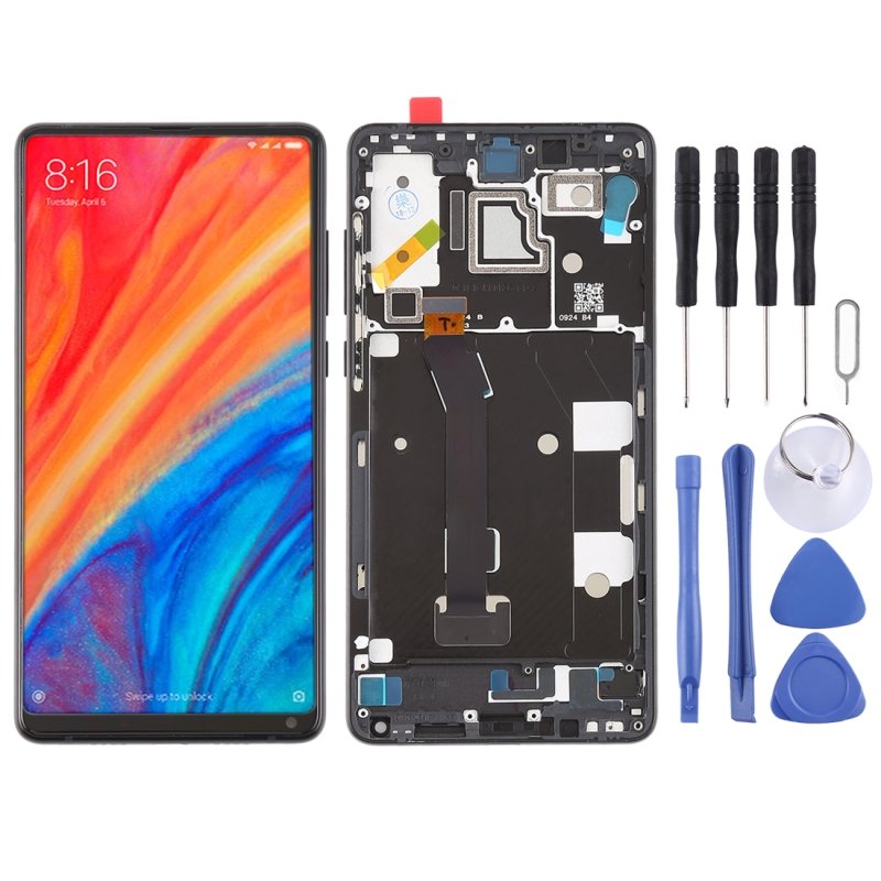 High Quality LCD Screen and Digitizer Full Assembly with Frame Lcd Replacement Glass for Xiaomi MI Mix 2S With ToolsHigh Quality LCD Screen and Digitizer Full Assembly with Frame Lcd Replacement Glass for Xiaomi MI Mix 2S With Tools