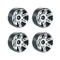 4PCS RC Rock Crawler 1:10 Alloy Metal Wheel Rim 1.9 Inch BEADLOCK for 1/10 Axial SCX10 90046 TAMIYA CC01 RC4WD D90 D110 RC Car