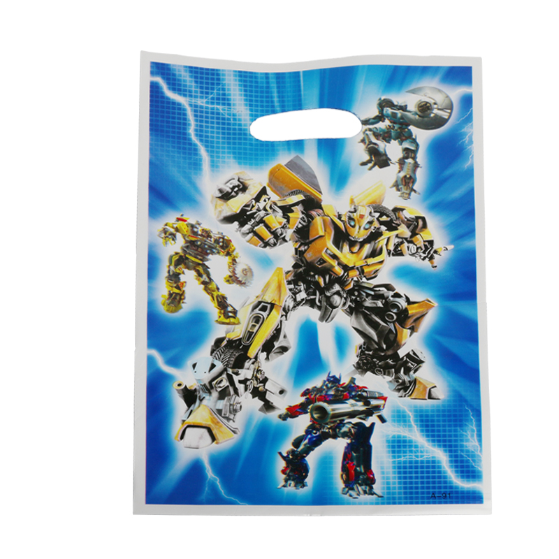 40pcs/lot Transformers Gift Gag For Shower Party Supplies Kids Happy Birthday Candy Bags Loot Bag Decoration