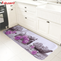 פרחי הדפסת שטיח רצפה באיכות גבוהה FOKUSENT ואדום סירת שפשפת מחצלת דלת שטיחי שטיחים פלנל רך רחיץ