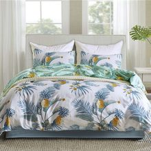 Pastoral Style Bedding Set Pineapple Design King Size Bedclothes Pillowcase Duvet Cover Sets Bedroom Decoration Home Textiles(China)
