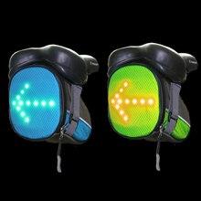 купить Bicycle Taillight Saddle Mountain Road Rear Pannier LED Warning Lamp Bag MTB Cycling Seatpost Bag недорого