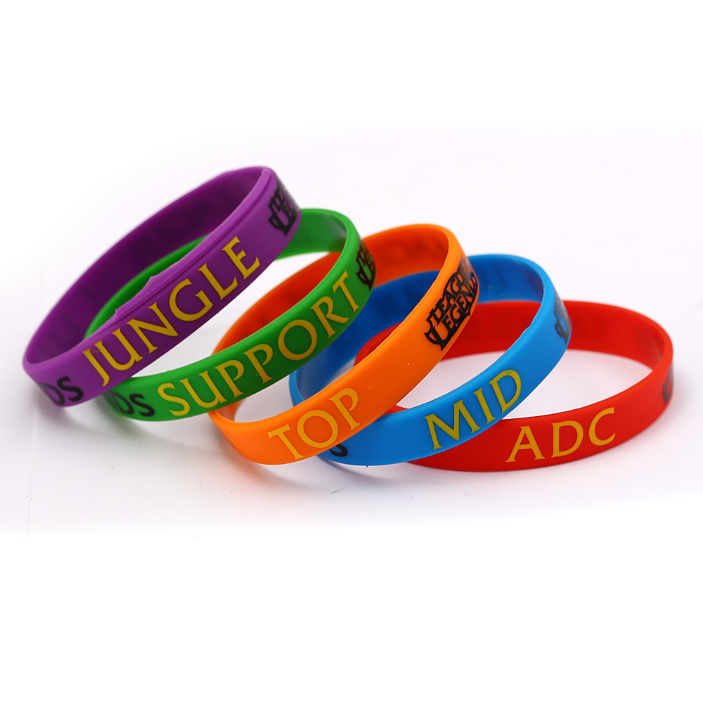 Lol Cuff Bracelet League Of Legend Wristband Silicon Bangle With Adc Jungle Mid Support Bracelets For Women Men In Charm From Jewelry
