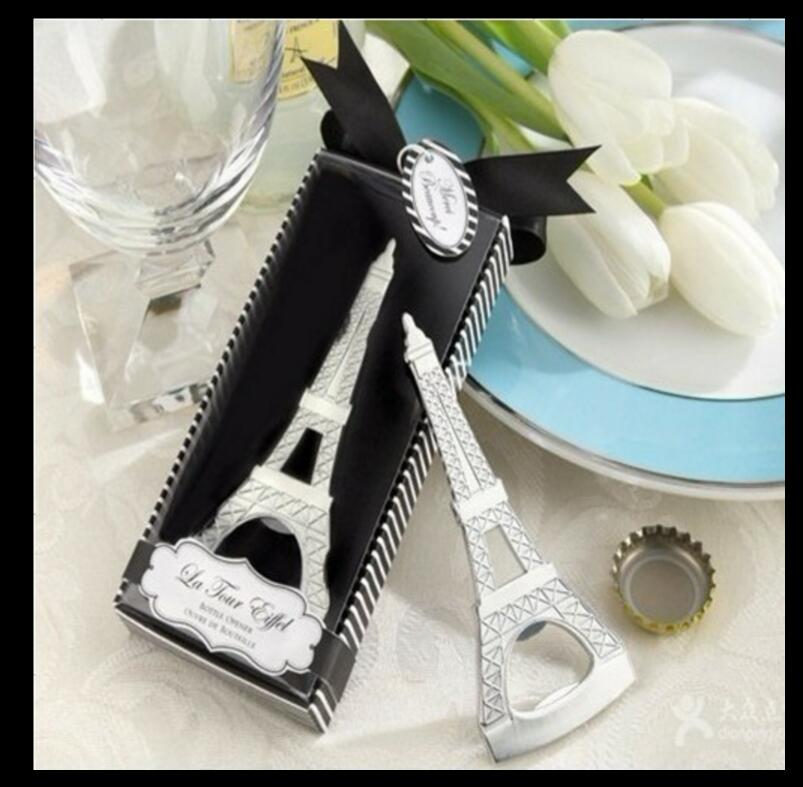 lastest fashion alloy metal French tower classic bottle opener summer on beach for Wedding Party favor decor Gift