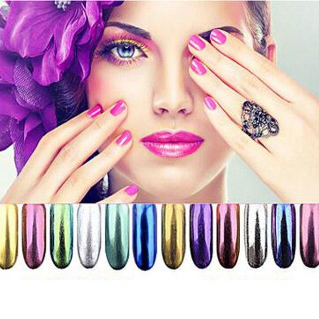 Brillo De Uñas Nail Art Decoration Glitter Powder Reflejar Chrom ...