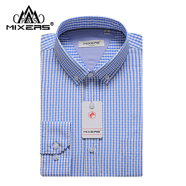 fc7d4f13b Nuevo 2018 algodón peinado Camisa de rayas de lujo para hombre de manga  larga camisas a