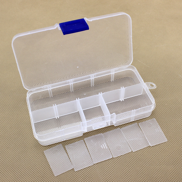 10 Plaid detachable cover transparent plastic box jewelry box