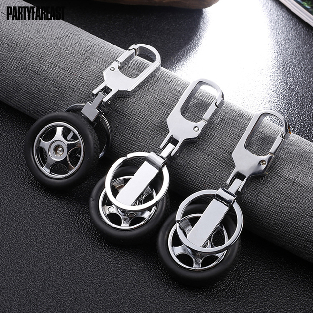 Casual Black Tyre Key Chains Creative Cool Resin Zinc Alloy Keychain