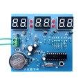 Seis kit relógio digital AT89C2051 singlechip 6 LED relógio eletrônico de produção de massa DIY (não incluindo bateria)