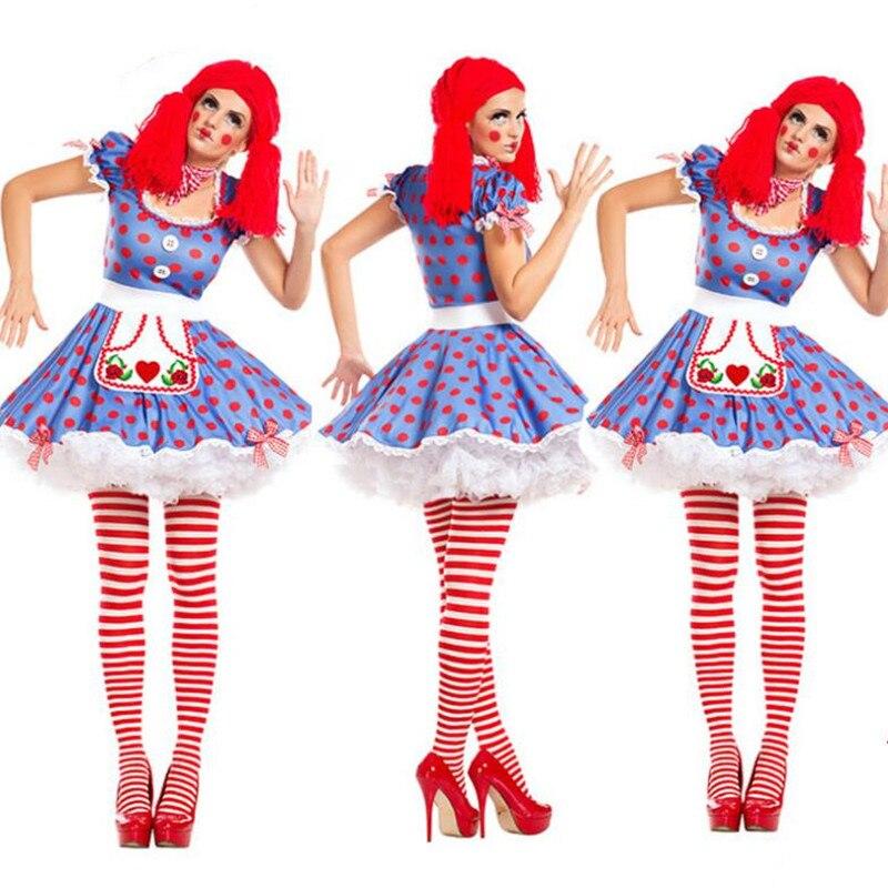 Kleid Dekoration in Phantasie Circus Zauberer Purim US22 Weihnachten Cosplay Halloween Dame Erwachsene Kostüme Kostüm Party Clown Clown 0Frauen tQxhdrCs