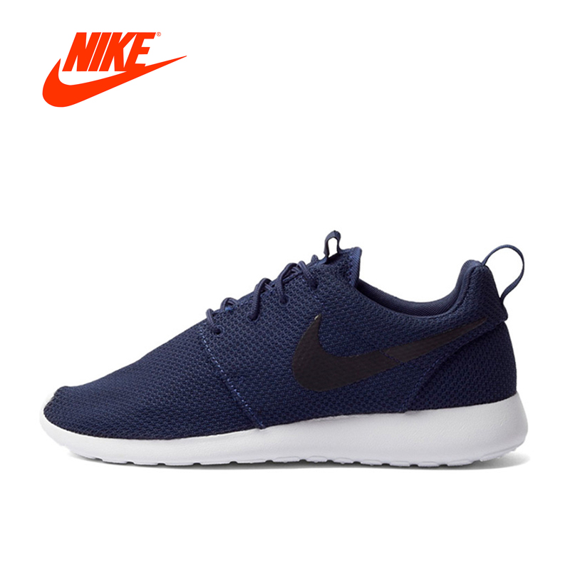 Original New Arrival Authentic Nike Men's ROSHE RUN Mesh Breathable Running Shoes Sneakers Outdoor Walking Jogging