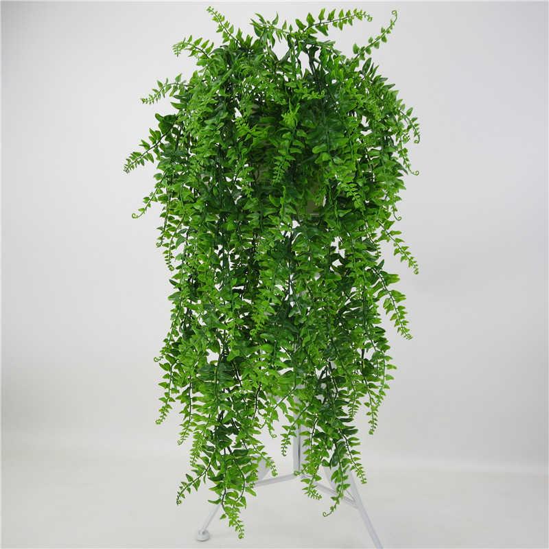 Feuilles artificielles plastique plante vigne tenture murale jardin salon Club Bar décoré fausses feuilles vert plante lierre P0.11