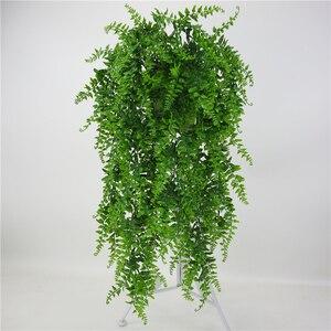 Image 1 - Hojas artificiales de plástico para decoración de pared, planta colgante de pared para jardín, sala de estar, Club, Bar, hojas de imitación, planta verde, hiedra P0.11