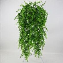 Künstliche Blätter Kunststoff Pflanzen Reben Wand Hängen Garten Wohnzimmer Club Bar Verziert Gefälschte Blätter Grüne Pflanze Ivy P 0,11