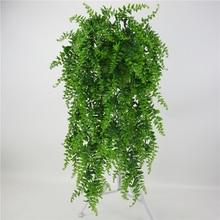 人工葉プラスチック植物つる壁ガーデンリビングルームクラブバー装飾された偽葉緑植物アイビーP0.11