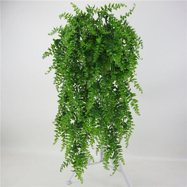 Yapay yapraklar plastik bitki asma duvar asılı bahçe oturma odası kulübü Bar dekore sahte yapraklar yeşil bitki sarmaşık P0.11