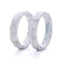 Bán buôn 10 cái/lốc Đá Cẩm Thạch Silicone Bé Mọc Răng Bracelet Thời Trang Silicone Mọc Răng Bangles Đối Với Phụ Nữ Bé Mọc Răng Chew Hạt