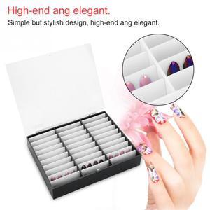 Image 2 - 33 Grids Nail Tip Make Organizer Opbergdoos Nail Art Rhinestones Bead Container Fake Nail Display Plank Case Manicure Gereedschap