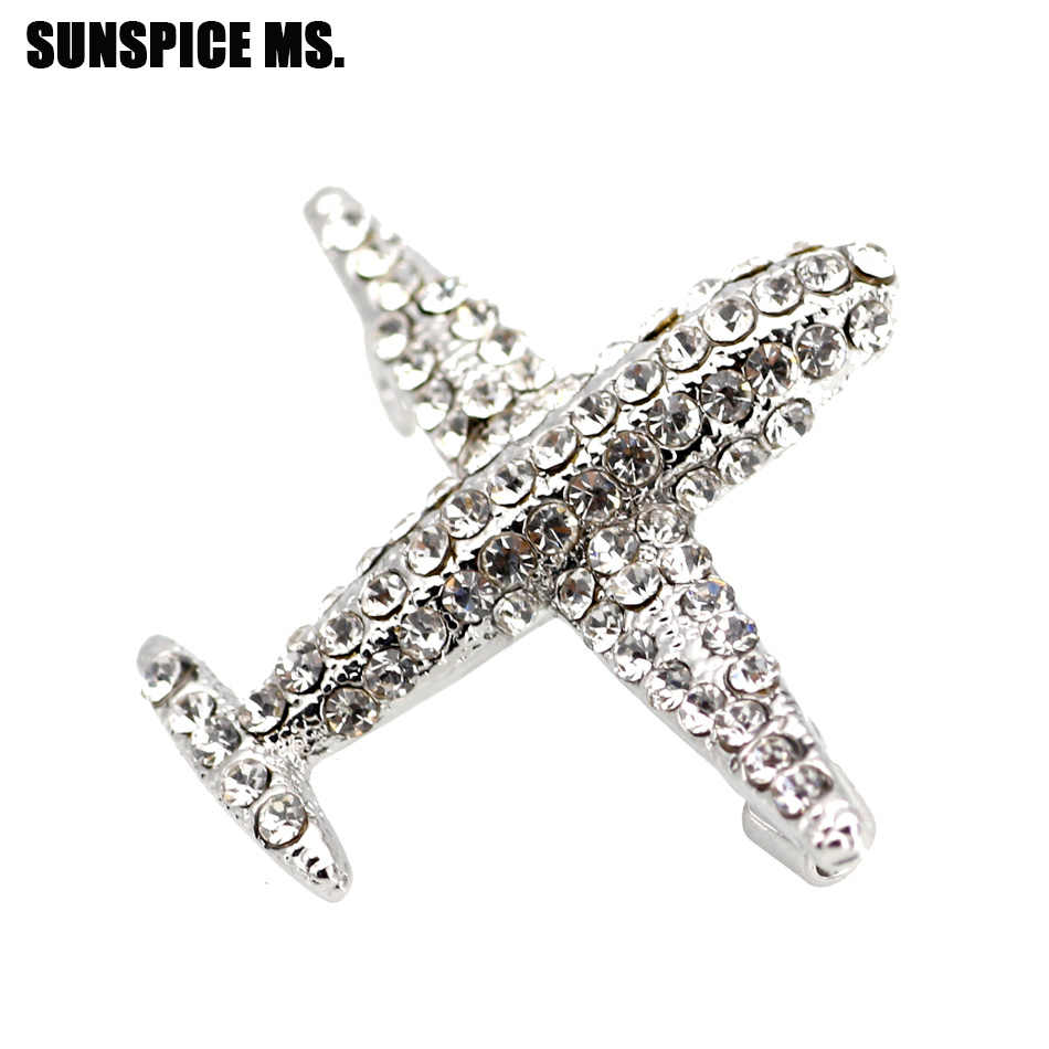 cfc7779127 Detail Feedback Questions about Fashion Full Crystal Plane Brooch ...