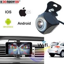 Koorinwoo последние CCD Wi Fi автомобиля сбоку/спереди/заднего вида камера для IOS и Android мобильного телефона Авто прикуриватели Реверсивный