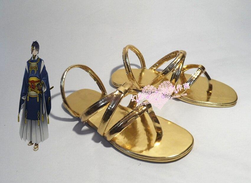 The sword dance Touken Ranbu Online Mikazuki Munechika  cosplay Shoes Boots Custom-Made