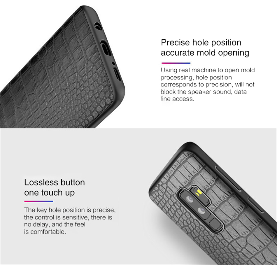 Retro Crocodile Snake Case For Samsung S8 S9 Plus Note8 Art Print PU Leather Soft Luxury Phone Back Cover For Samsung Note 8 S9 (5)