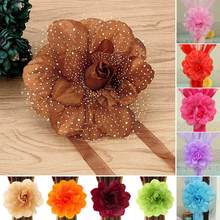 1pc Curtain Accessories Peony Flower Curtain Clip-On Curtain Strap Tie Backs Holdbacks(China)
