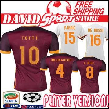 e183ff2fc Player Version romaity 2015 2016 camisetas romaity Soccer Jersey Futbol  Camisa romaize jersey calcio Football Shirt TOTTI Romeer