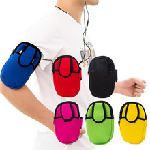New Men&women arms bag wrist Mobile phone bag Coin Purse Wallet Change Pocket Pouch Keys Case Free shipping