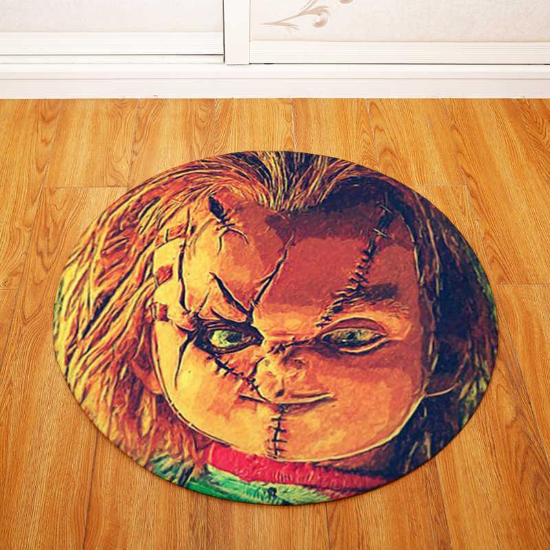 Японская кукла круглый Tapete для гостиная спальня домашний декоративный ковер ковры для детей мягкий игровой коврик