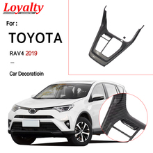 Loyalty for Toyota RAV4 2019 Carbon Fiber ABS Interior Auto Car Accessorie Front Car Gear Shift Box Panel Cover Trim Car Styling dwcx abs carbon fiber style front seat heating switch button cover trim frame panel car styling fit for toyota rav4 2019 2020