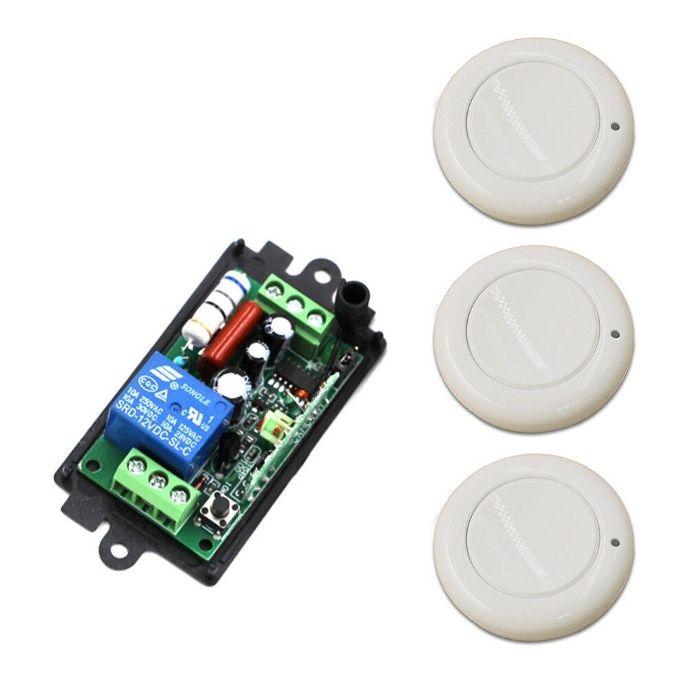 Nuevo Producto AC110V 220 V RF Sistema de Interruptor de Control Remoto 3 unids