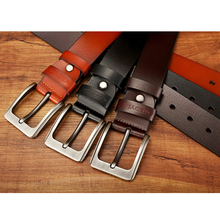 High Quality Genuine Leather Men's Pin Buckle Belt