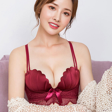 3/4 cup Bra Women underwear bra plus size wireless adjustable lace Femme breast Sexy Bow Lady Girl Basic Daily
