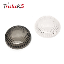 Triclicks Smoke Clear Turn Signal Lights Lens Round Cover Motorcycle Light Covers New For Yamaha Cruisers V-Max V-Star Road Star