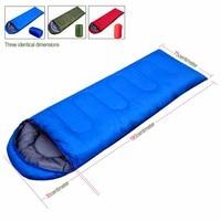 Couple autumn and winter sleeping bag sleeping bag Sleeping outdoor Camping Sport Adult Envelope Type Cotton Splicing Single