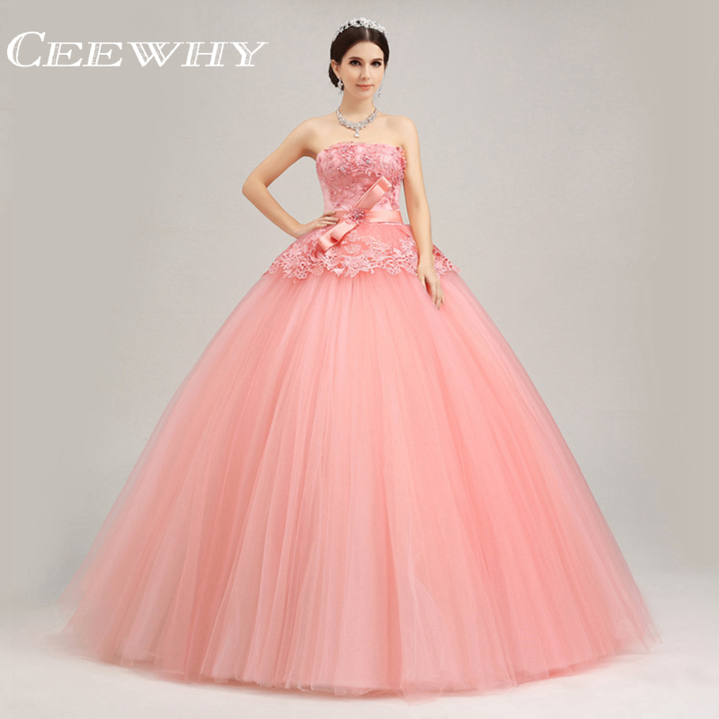 Embroidery Luxury Heavy Beading Strapless Ball Gown Floor-Length Quinceanera Gowns Coral Quinceanera Dresses Sweet 16 Dresses