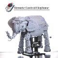 WEILE 7107 Серия животных пульт дистанционного управления слон сплайсинга техника строительные блоки игрушки для детей с мотором и огнями 1542 шт