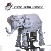 WEILE 7107 Legoing Animal Series Remote Control Elephant Splicing Technic Building Blocks Toys for Children with Motors 1542pcs